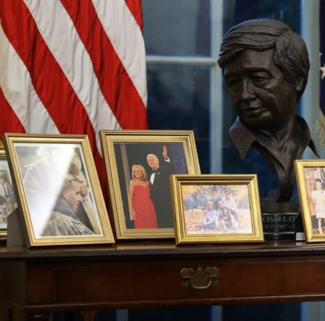 Day One Hypocrisy: Biden Places Cesar Chavez Bust In Oval Office Before Nixing 8,000 Union Jobs