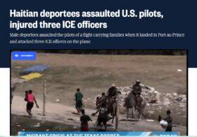 TERRIBLE: Haitian Deportees Assault US Pilots–Injure ICE Officers