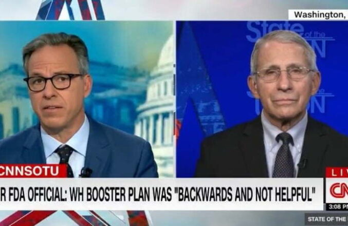 Fauci Scrambles to Defend Joe Biden's Confusing Messaging on Boosters After FDA Declines Approval